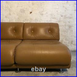 XXL Vintage Couch I Sofa l Cognacfarben l 70er